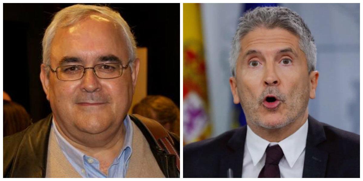 """Mikel Buesa retrata a Marlaska: """"La poltrona de Interior la ocupa el amigo de los terroristas"""""""