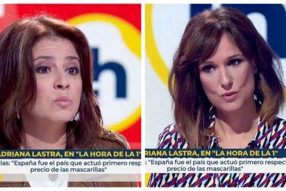 Adriana Lastra miente a la cara a Mónica López y a todos los españoles en TVE