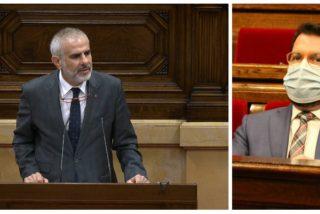 """¡Este es el nivel! Aragonès llama """"payaso"""" a Carrizosa (C's) por preguntar sobre la trama corrupta de ERC"""
