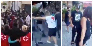 """La fiesta de voluntarias de la Cruz Roja bailando con inmigrantes ilegales: """"Que tengan coj... de pedir pasta"""""""