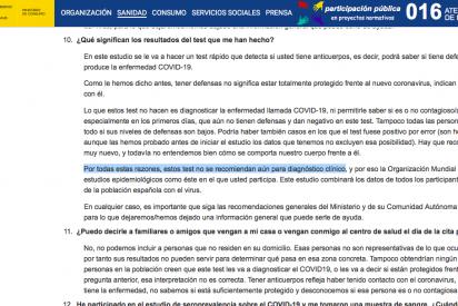 """La web del ministerio de Sanidad hunde a Salvador Illa: """"los test no valen para nada"""""""