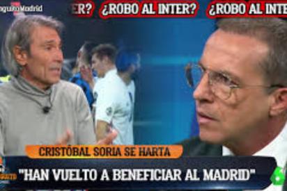 Lobo Carrasco se 'merienda' a Cristóbal Soria en 'El Chiringuito' por acusar al Madrid de ganar por el árbitro