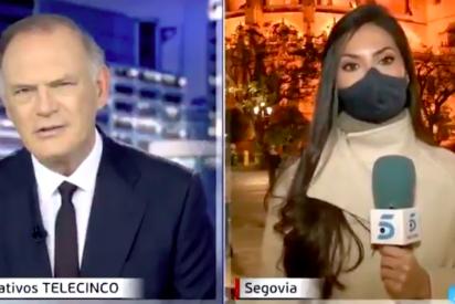 """Alarma en Telecinco por la desgarradora huida en un directo de Piqueras: """"¡no, no!"""""""