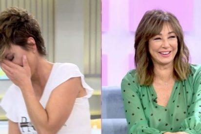 """Ana Rosa 'sufre' un ataque de risa que acaba con Sonsoles Ónega llorando: """"Ríete a gusto hija, que nos hace falta"""""""