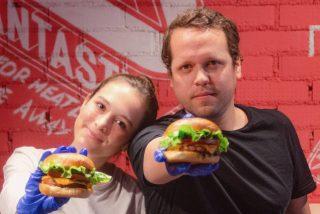 Lluvia de hamburguesas veganas en Madrid