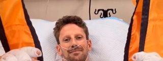 Grosjean se estrella en Bahréin a 221 km/h y 56 G de fuerza, arde el coche y no tiene un hueso roto