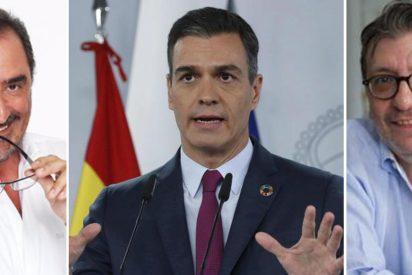 Herrera y Camacho se tienen que reír por no llorar con Pedro Sánchez, 'el inventor de la vacuna'