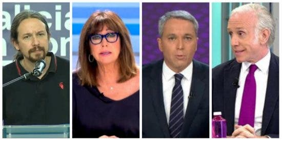 El panfleto de Iglesias pone en la diana a Ana Rosa, Vallés e Inda por denunciar el 'Ministerio de la Verdad'