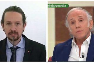 """Eduardo Inda: """"Pablo Iglesias se ha puesto chaqueta pero la higiene personal no la ha mejorado"""""""