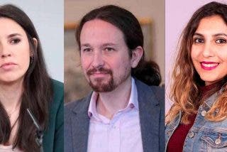 """Montero se da 'un tiro en el pie': la campaña feminista """"Tu móvil es tuyo"""" retrata a Iglesias por el Caso Dina"""
