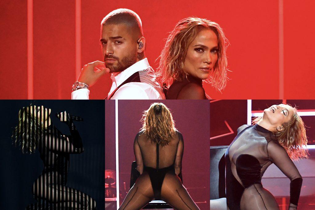 American Music Awards 2020: Jennifer Lopez, sensualidad, escote y transparencias