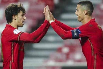Portugal despedaza a Andorra con gol de volea de Joao Félix y récord de Cristiano Ronaldo