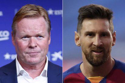 """Koeman 'echa un capote' a Messi: """"Tras un viaje tan largo, preguntar por Griezmann es una falta de respeto"""""""