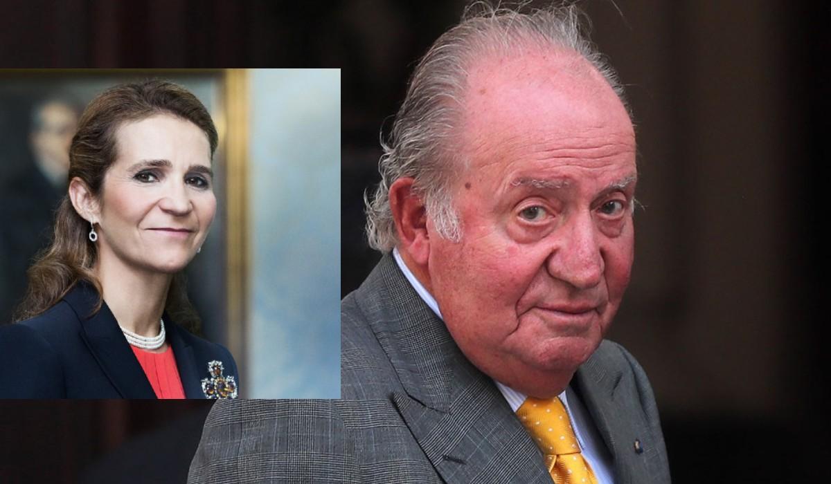 La Infanta Elena se va a Emiratos a ver a su padre, el Rey Juan Carlos I
