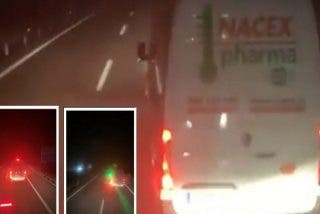30.000 euros de multa por deslumbrar con un láser a un camión que iba detrás de él en la autopista