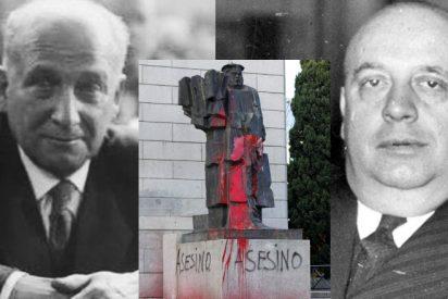 PSOE y Podemos echan las muelas: la estatua de Largo Caballero vuelve a aparecer pintarrajeada