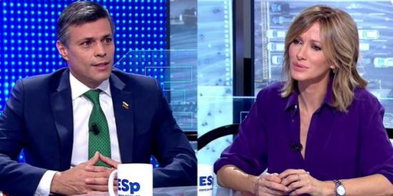 "Leopoldo López reta al 'chavismo español' frente a Susanna Griso: ""Estoy dispuesto a reunirme con Iglesias"""
