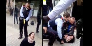 Los Mossos catalanes detienen a 'tiro' de pistola Taser a una chica en la puerta del ambulatorio