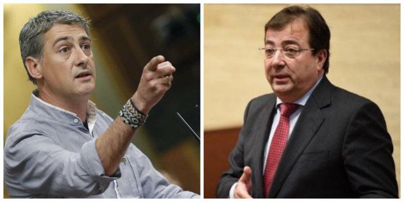 Matute (Bildu) hostiga a Fernández Vara por criticar el pacto de Sánchez con Otegi