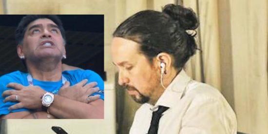 Cachondeo en toda España a cuenta de Pablo Iglesias y su delirante despedida a Maradona