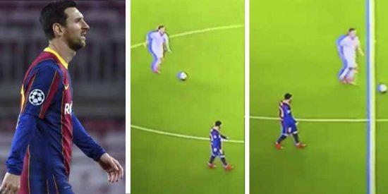 Las redes 'fulminan' a Messi por pasota: un vídeo muestra su falta de compromiso contra el Dínamo de Kiev
