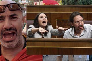 Pablo Iglesias pide cárcel para Miguel Frontera porque a él le llamaba 'garrapata' y a Irene Montero, 'analfabeta'