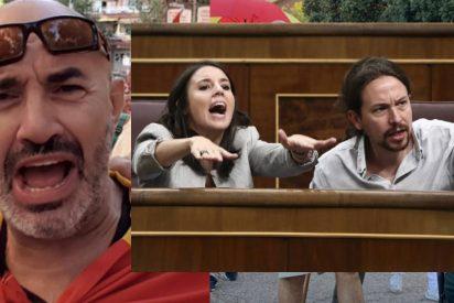 El vicepresidente Iglesias y la ministra Montero van al juez para meter 4 años en la cárcel al vecino del himno español
