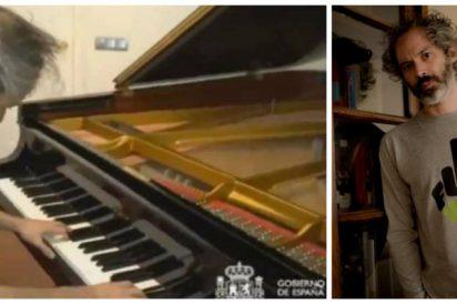 James Rhodes agradece los favores de ser el pianista de Sánchez insultando a VOX