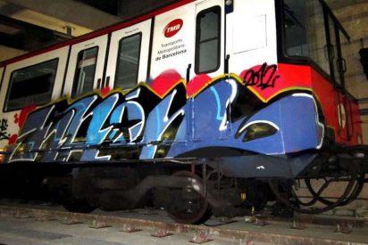 Capturan a 99 grafiteros por pintar los vagones de Renfe y Metro de Barcelona