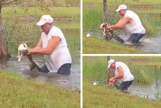 Richard Wilbanks, el valiente de 74 años que se pelea con un caimán para salvar a su perrito