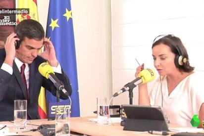 La desaparición de Pedro Sánchez desata la crítica de 'periodistas gubernamentales' como Pepa Bueno