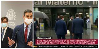 Sánchez e Illa se llevan un sonoro abucheo por tardar 8 meses y 60.000 muertos en visitar un hospital
