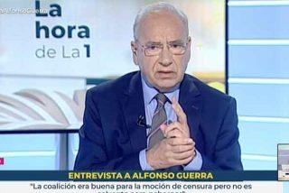 """Alfonso Guerra incendia TVE y retrata a Sánchez: """"Tengo claro que prefiero al PP antes que a Bildu"""""""
