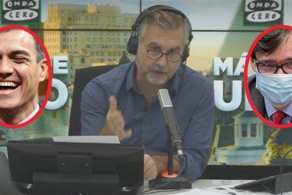 Alsina muestra a los presidentes autonómicos del PSOE cómo Sánchez e Illa se han reído también de ellos
