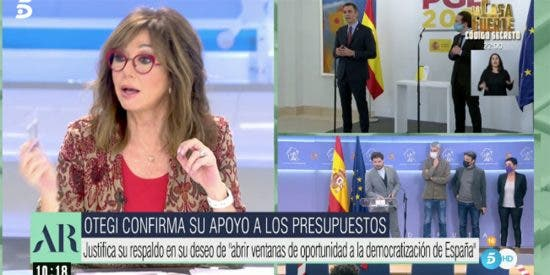 "La tarascada de Ana Rosa Quintana, harta de los flirteos de Sánchez con Otegui: ""¡Acojonante!"""