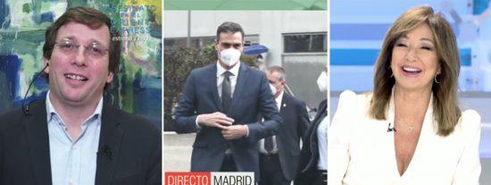 El surrealista encontronazo del alcalde de Madrid con Sánchez para risas de Ana Rosa