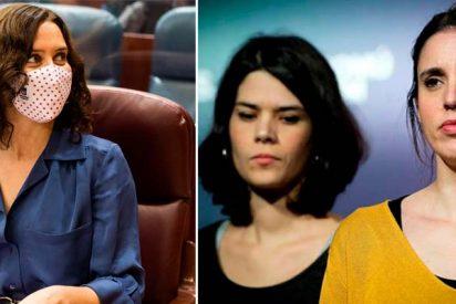 """Ayuso saca los colores a Isa Serra e Irene Montero: """"Para ascender en Podemos hay que ser pareja de alguien"""""""