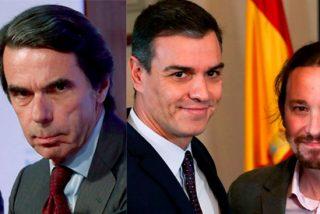 """Aznar desvela por qué el plan del PSOE-Podemos llevará a España a una """"deriva populista y autoritaria"""""""