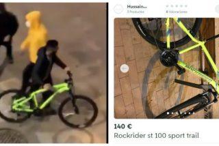 La Policía atrapa a Hussain, el saqueador del Decathlon que puso a la venta en Wallapop la bicicleta robada