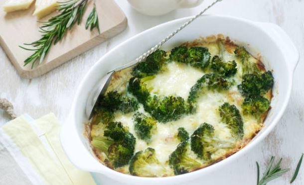 Brócoli gratinado: vegano