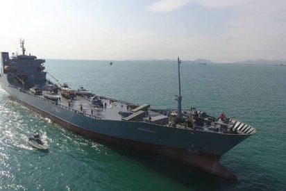 Irán incorpora un gran buque militar a su flota naval tras las amenazas de EEUU