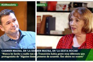 """Carmen Maura hace papilla a Sánchez e Iglesias: """"Ni de coña hubiesen sabido hacer la Transición"""""""