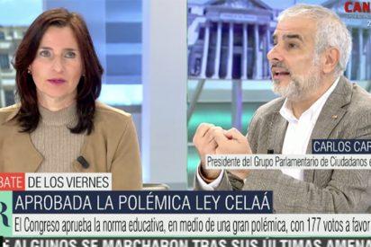 """Chorreo estratosférico en Telecinco a la ponente de la ley Celaá: """"¡Se la ha tragado enterita!"""""""