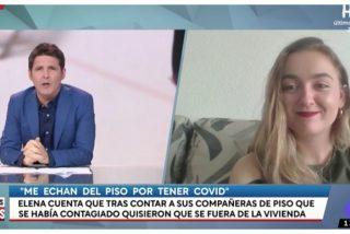 """Elena Cañizares, la enfermera con COVID que quieren echar de su piso, convertida en estrella televisiva: """"Me acosan"""""""