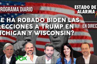 TERTULIA / ¿Puede todavía ganar Trump a Biden a pesar del 'robo' electoral en Michigan y Wisconsin?