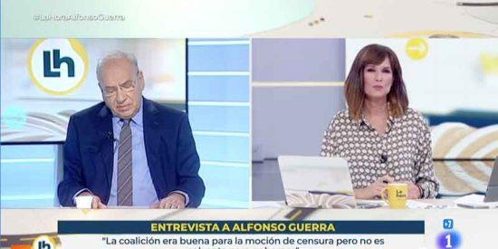 Guerra sacude a la presentadora de TVE que suelta que no hace falta enseñar el castellano