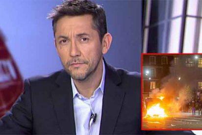 """El periodismo de bufanda en el que cree Javier Ruiz: todos los disturbios """"son cosa de la ultraderecha"""""""