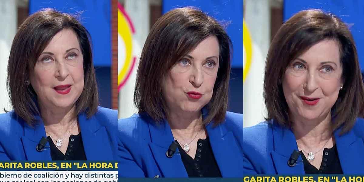 Margarita Robles (PSOE) se muerde la lengua cuando le preguntan por Iglesias, pero acaba mandándole un recado