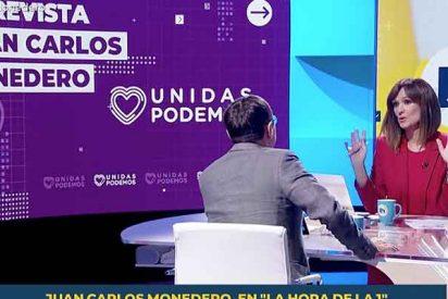 Mónica López (TVE) ya ni disimula: Monedero se pasea por su programa para blanquear los pactos con Bildu
