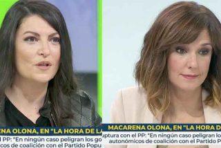 """El rotundo contragolpe de Macarena Olona a Mónica López (TVE): """"¿Que no me creo que ha ganado Biden? Pero, ¿se lo cree usted?"""""""